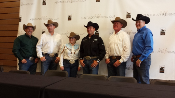 Team USA Reining: Shawn Flarida, Jordan Larson, Mandy McCutcheon, Andrea Fappani, Troy Heikes, and Tom McCutcheon.
