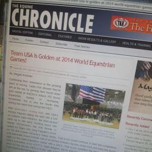 It was exciting covering the World Equestrian Games for two websites, bringing the excitement of reining to everyone.