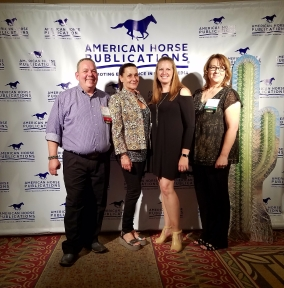 The NRHA Reiner staff: Bucky Harris, Simona Diale, Jana Thomason