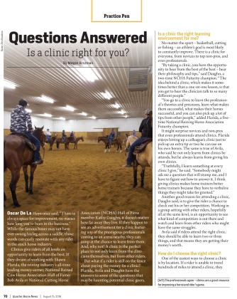 Is a Clinic Right for You? Quarter Horse News